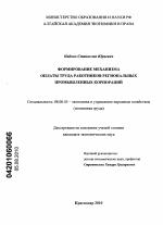 Формирование механизма оплаты труда работников региональных  Диссертация