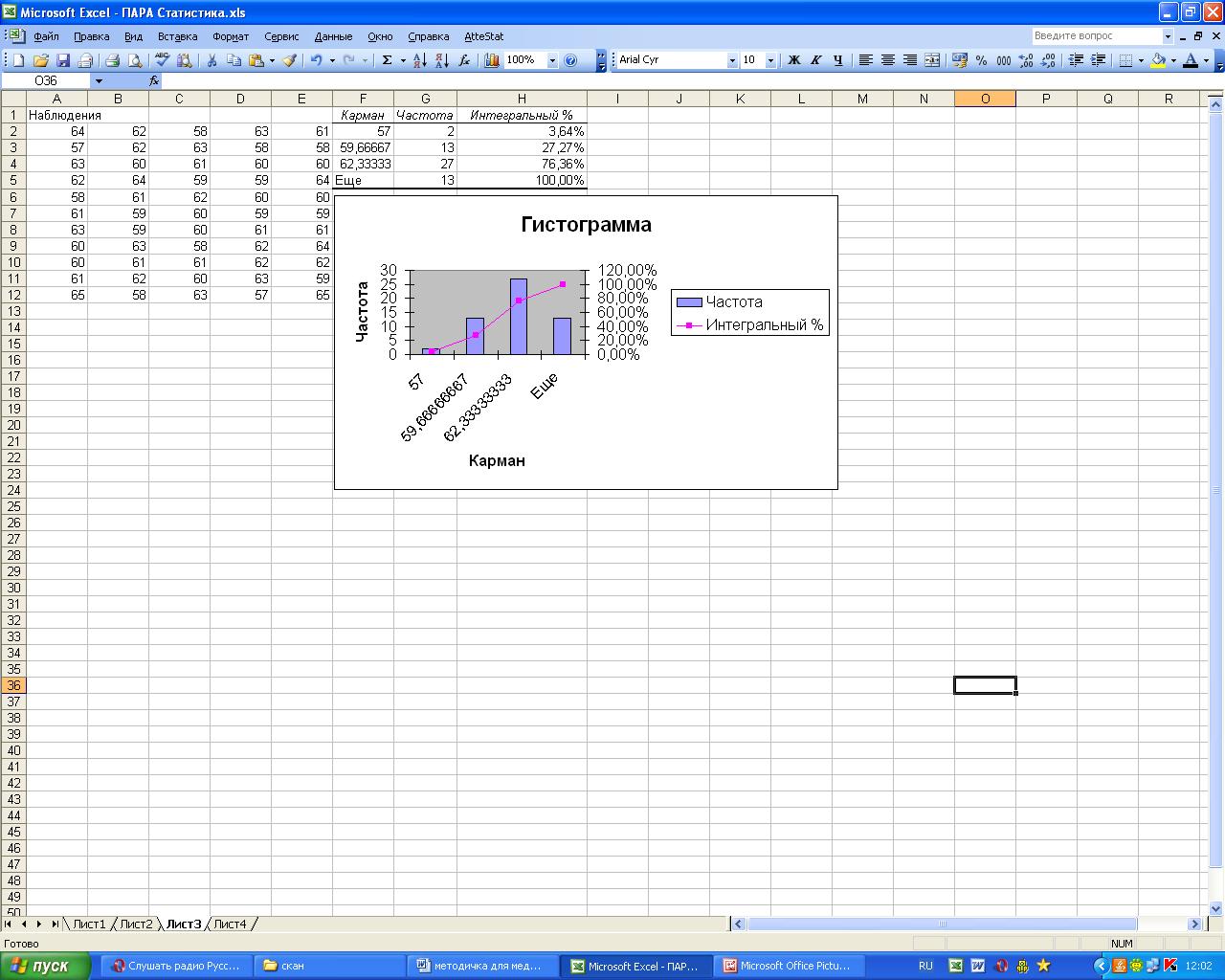 Суммирование ячеек в Excel по 75