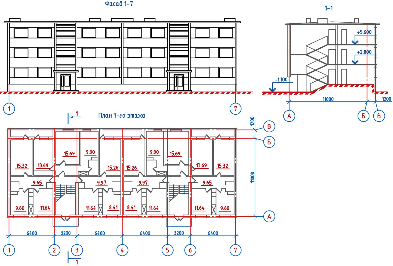 Кирпичное здание конструктивная схема