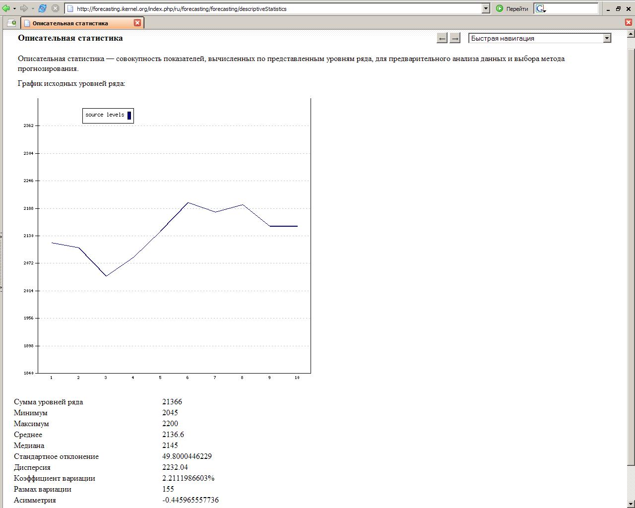 Прогнозирование значений в рядах - Excel 29