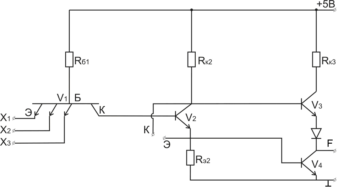 ttl принципиальная схема