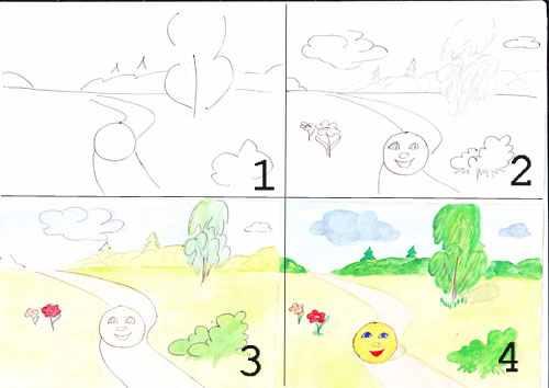 Рисовать поэтапно сказка