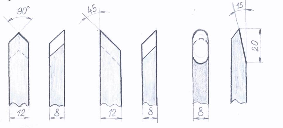 Резцы по дереву для ручной работы чертежи