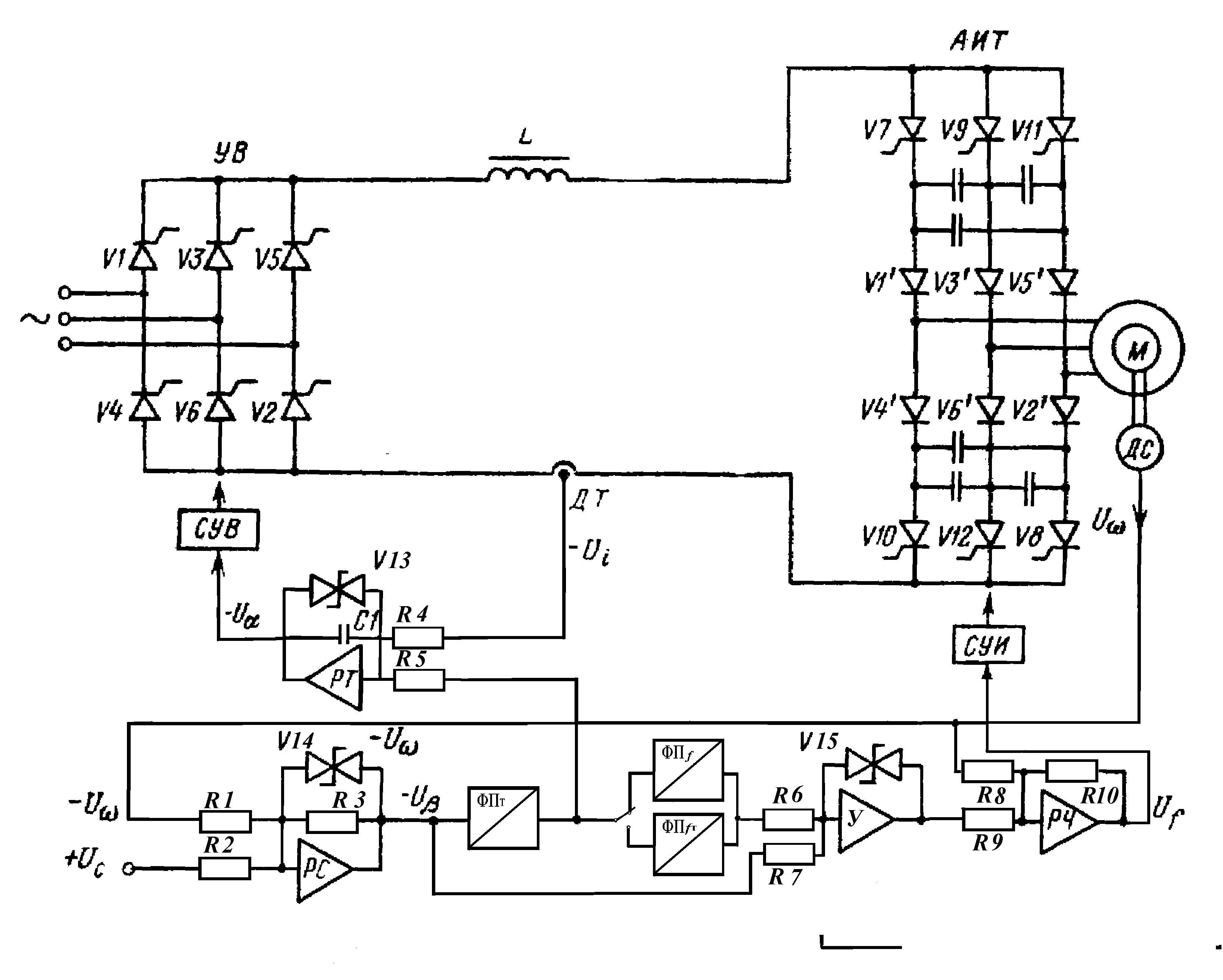 Управление асинхронным двигателем схема на микроконтроллерах