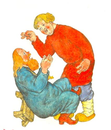 Рисунок к сказке о попе и работнике его балде раскраска 101